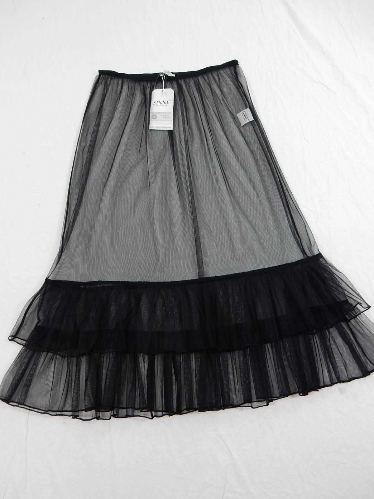 MYO-Lagenlook Traum-Wolken Binde-Ballon-Rock Taft /& Jersey schwarz 42 44 46 48